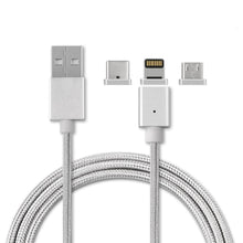 Load image into Gallery viewer, iGADG 3 in 1 Magnetic Data Cable (Type C , Lightning, Micro USB) for Smartphones KoolGadgets