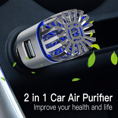 2-in-1 Car Air Purifier & Dual USB Car Charger KoolGadgets