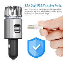 Load image into Gallery viewer, 2-in-1 Car Air Purifier & Dual USB Car Charger KoolGadgets