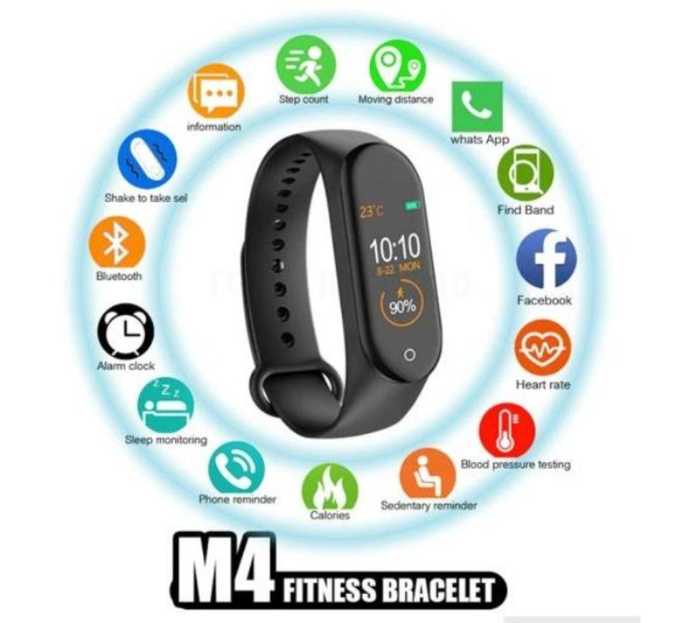 M4 Smart Wrist Band with Activity Tracker KoolGadgets