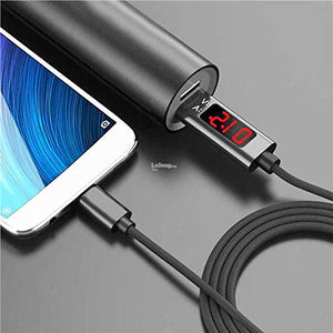QC3.0 2.4A Voltage Current Fast Charging Data Cable with LCD Display - Micro PIN