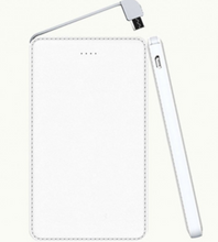 Load image into Gallery viewer, 5000 mAh Sleek Leather Finish Power Bank