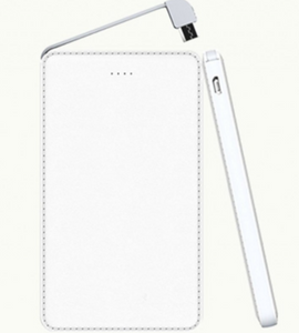 5000 mAh Sleek Leather Finish Power Bank