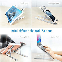 Load image into Gallery viewer, Aluminum Alloy Portable Foldable Laptop Holder Stand