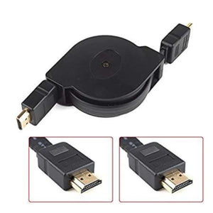 Retractable HDMI Cable-Black KoolGadgets