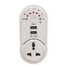 Load image into Gallery viewer, Timer Switch Socket with 2 USB Ports KoolGadgets