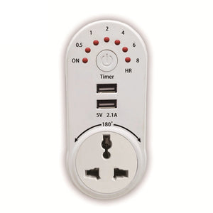 Timer Switch Socket with 2 USB Ports KoolGadgets