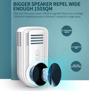 FIRST TIME IN INDIA! Multi-function Ultrasonic Pest Repeller with Mat Coil Heating to repel mosquitos, rats, cockroach, insects etc