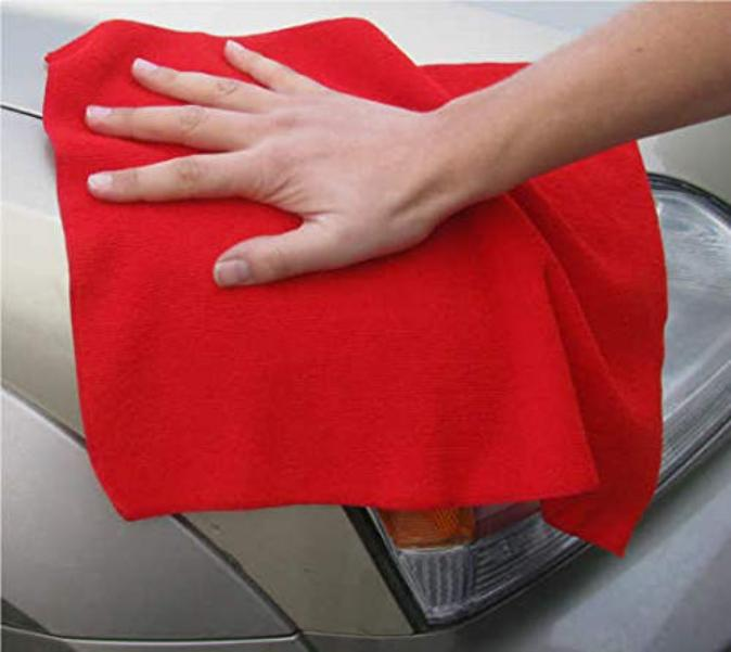 Car Cleaning Kit - Micro Fiber cloth, Duster, Sponge and AC Brush