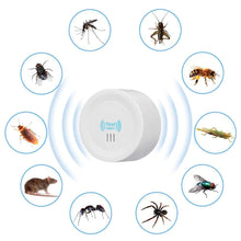 Load image into Gallery viewer, iGADG Round Electronic Ultrasonic Pest Repellent for Mosquitoes, Mice, Ants, Roaches, Spiders, Flies, Bugs