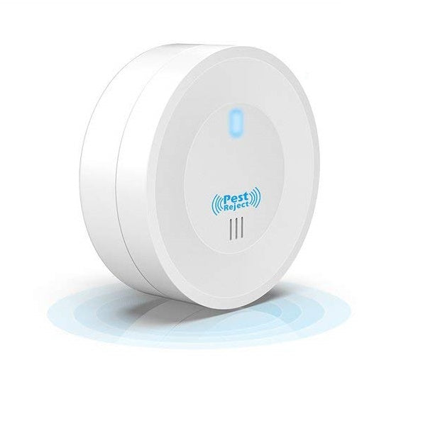 iGADG Round Electronic Ultrasonic Pest Repellent for Mosquitoes, Mice, Ants, Roaches, Spiders, Flies, Bugs
