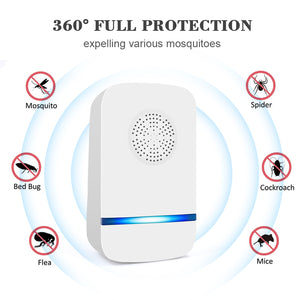 2020 Model Electronic Ultrasonic Pest Repellent Machine PR32 For Rats/Mice/Cockroaches/Bugs/Flies/Mosquitoes/Spiders (Pack of 4)