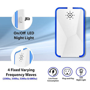 Ultrasonic Pest Repellent with LED Night Light KoolGadgets