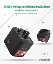 Load image into Gallery viewer, Universal 4 port quad USB travel Adapter Charger