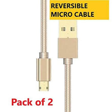 Load image into Gallery viewer, Reversible Micro Cable for your android smartphone - Pack of 2