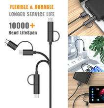 Load image into Gallery viewer, Fast and Long 2 in 1 USB Data Charging Cable
