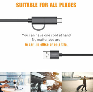 Fast and Long 2 in 1 USB Data Charging Cable