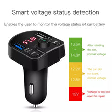 Load image into Gallery viewer, Multi function Car Charger bluetooth kit with Dual USB and FM