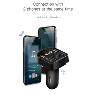 Multi function Car Charger bluetooth kit with Dual USB and FM