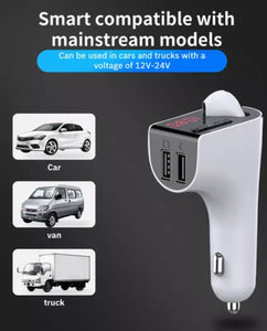 3 in 1 Car Charger FM and Bluetooth TWS Earbud