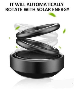 Solar Power Rotating Car Air Freshener Perfume, with Organic Fragrance