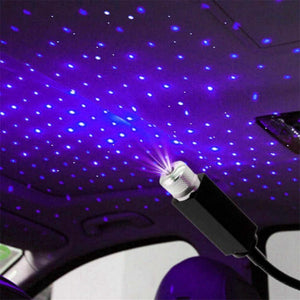USB Decorative Star Night Projector Light for Car