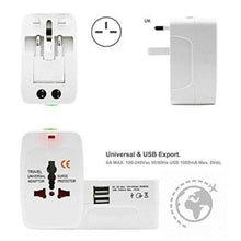 Load image into Gallery viewer, IGADG Universal Travel Adapter With Dual USB - White
