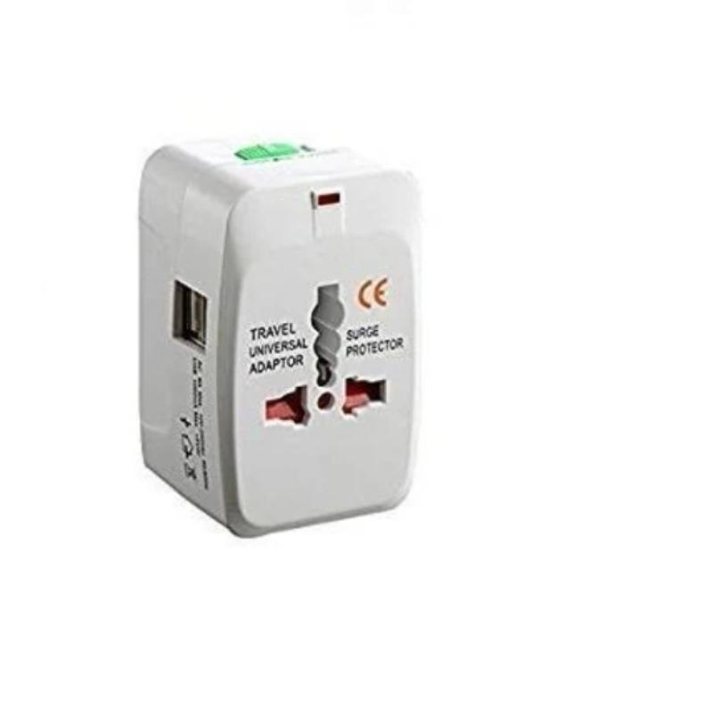 IGADG Universal Travel Adapter With Dual USB - White
