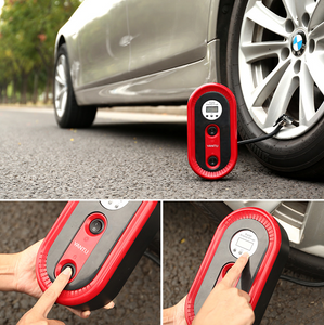 Portable Car Tyre Inflator with Emergency Light