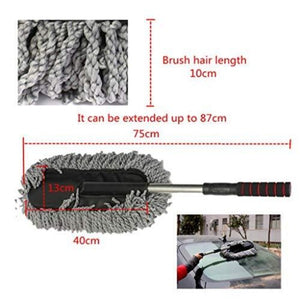 Car Microfiber Cleaning Duster with extendable handle