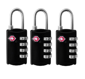 TSA Approved 4 Digits Lock Steel Padlocks for Suitcases & Baggage