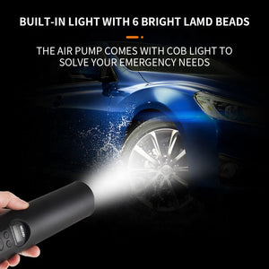 Mini Wireless Car Tyre Inflator with in-built battery