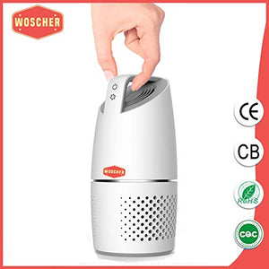 Woscher Car Air Purifier with True HEPA Air Purifiers Filter and USB Charging