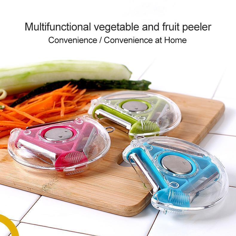 Multifunctional vegetable and fruit peeler