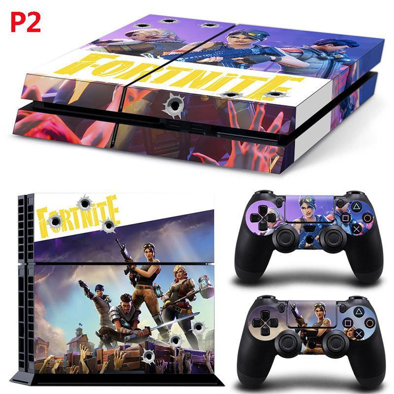 Stickers set for Playstation 4 System Console and Controllers