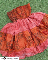 Hand made silk rara skirt