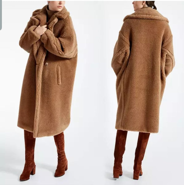 TEDDY coat faux lamb wool