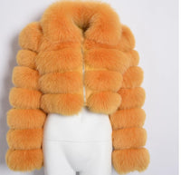 Cropped fox fur