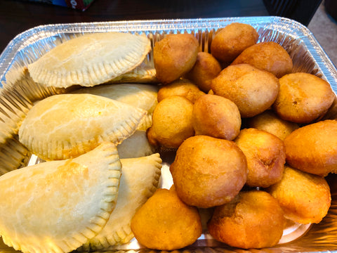 Meat Pie and Puff Puff Party Tray