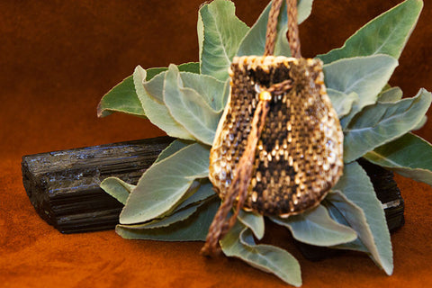 Rattlesnake Necklace Teardrop Bag