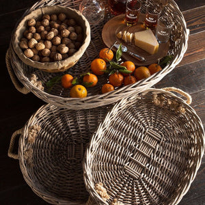 Willow Oval Serving Baskets Set of 3