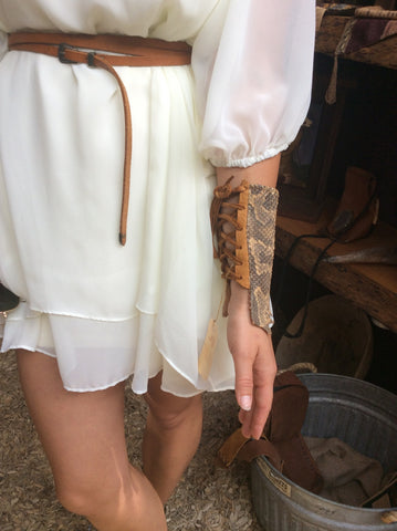 Snakeskin Arm Cuff with Deer Lace