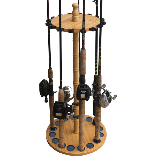 Fishing Rod Storage Rack Holds 16 Poles