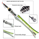 Super Cute & Stylish  Fish Shaped Telescopic Fishing Rod Carbon Fiber