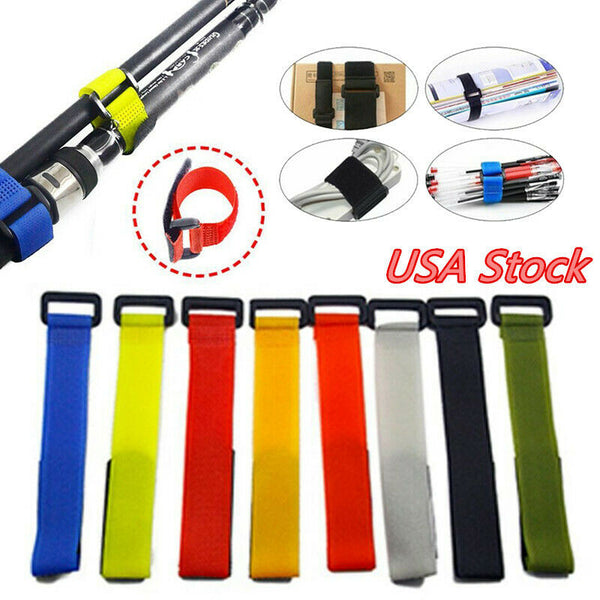 10 Piece Fishing Rod Tie Straps