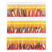 Lot of 30 Fishing Lures Crankbaits Hooks Minnow Baits Tackle
