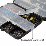 251 Piece Fishing Accessories Kit Swivels Snaps Hooks Sinkers Beads Tackle Box