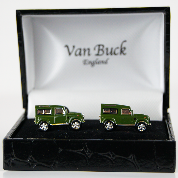 Van Buck Novelty Cuff Links - Land Rover Style