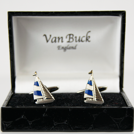 Van Buck Novelty Cuff Links - Sail Boats - Livingston - Castle Douglas
