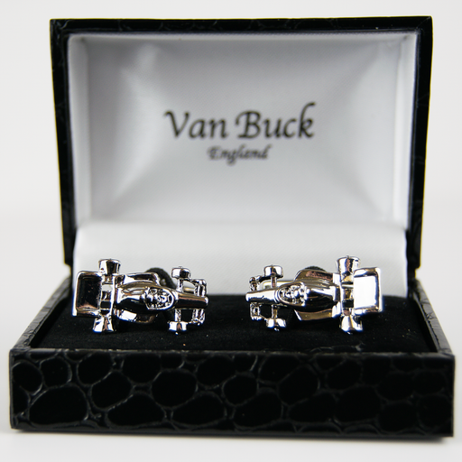 Van Buck Novelty Cuff Links - Racing Cars - Livingston - Castle Douglas